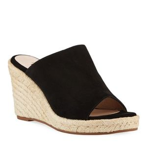 Stuart Weitzman Marabella Wedge Slide Sandals Blk